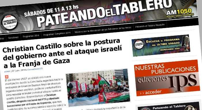 Christian Castillo sobre la postura del gobierno ante el ataque israelí a la Franja de Gaza