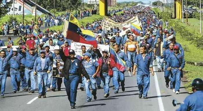 Venezuela: Importante marcha de trabajadores de Sidor
