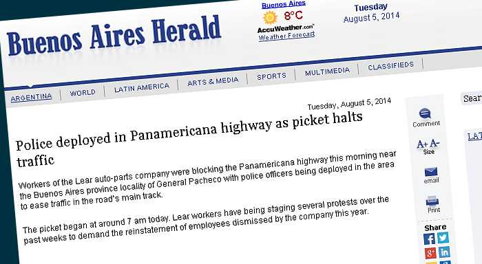 Police deployed in Panamericana highway as picket halts traffic