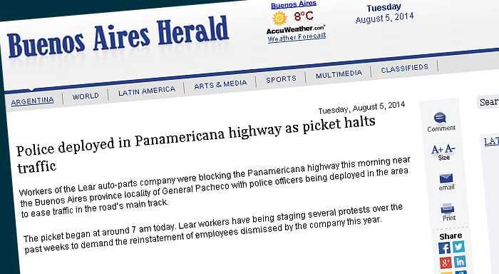 Police deployed in Panamericana highway as picket halts traffic