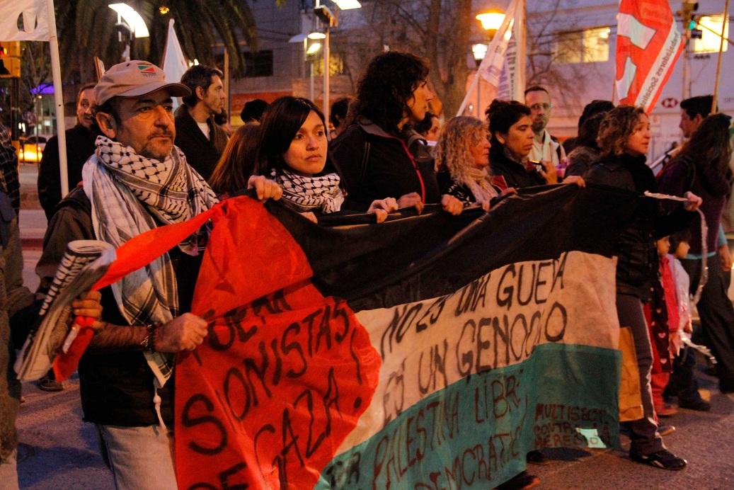 Neuquén marchó contra masacre de Israel al pueblo palestino