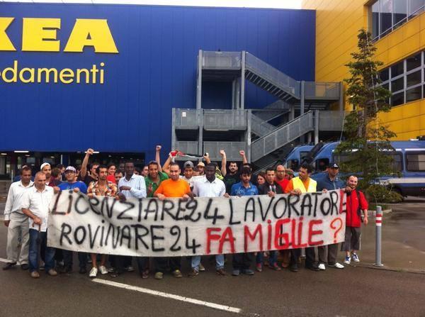 La lucha de los trabajadores de IKEA en Italia y la solidaridad internacional