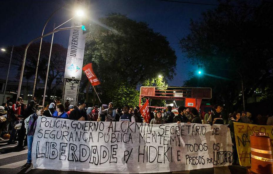 Em dia histórico, trabalhadores da USP fecham a universidade inteira e Fábio Hideki é libertado