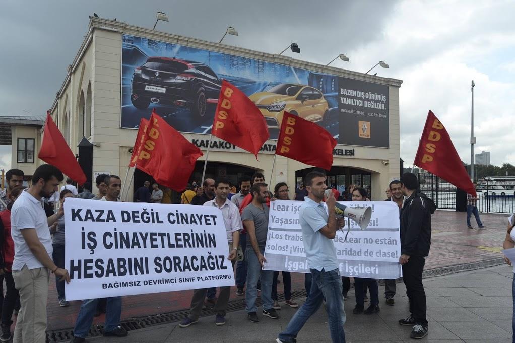 Solidaridad con los trabajadores de Lear en Estambul
