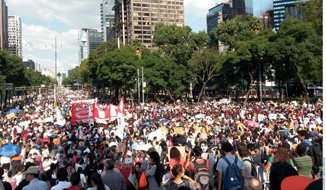 Mobilização massiva no México