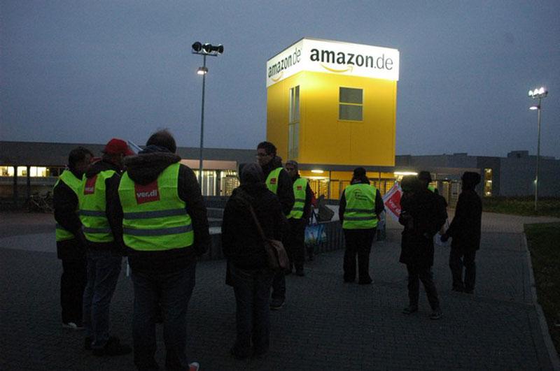 Greve dos trabalhadores da Amazon na Alemanha