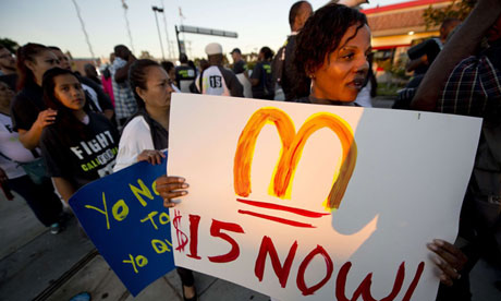 A luta pelo aumento salarial se liga ás eleições norte-americanas