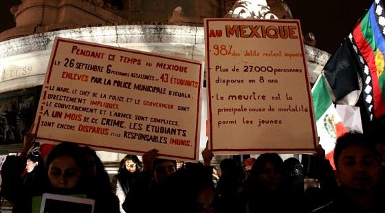 A Paris, les 43 étudiants mexicains manquent aussi!
