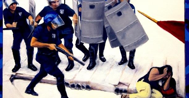 L'assassinat d'un manifestant: une banalité