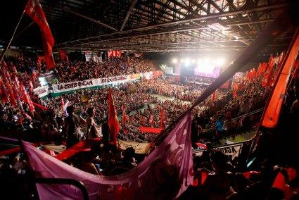 Con el estadio repleto, el PTS cerró un año con más fuerza militante