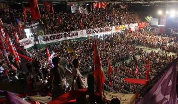 6.000 Menschen bei einer Kundgebung der PTS
