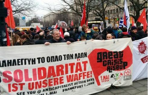 Manifestação em Berlim em solidariedade ã Grécia