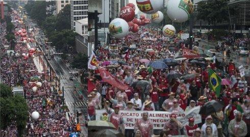 Actos del PT y la CUT en defensa de Dilma levantan un programa amplio para aglutinar apoyos