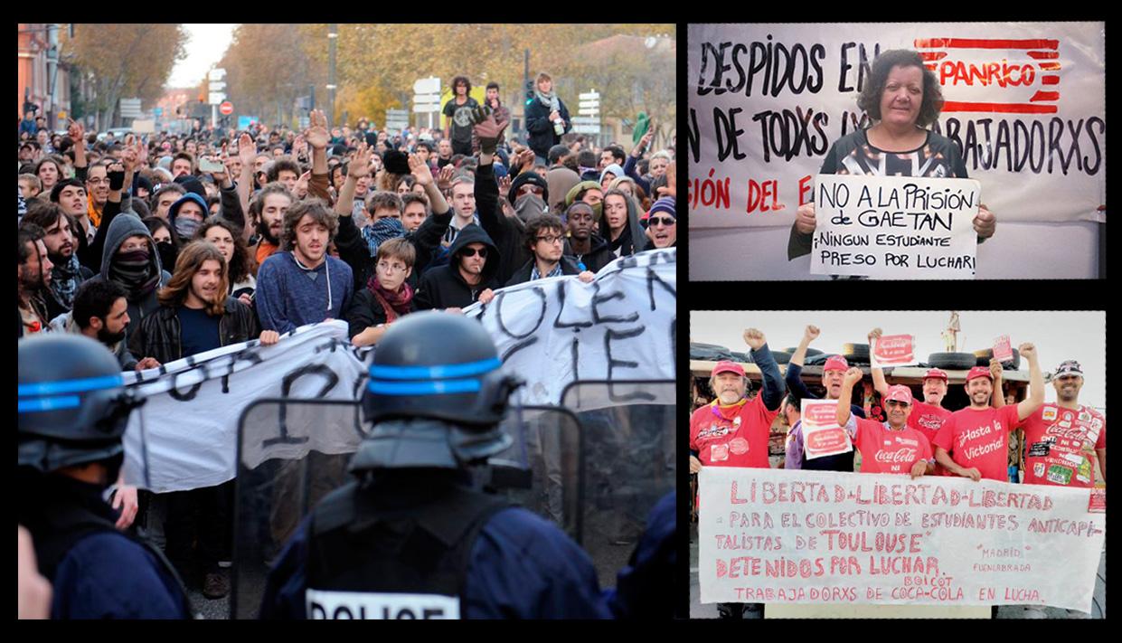Francia: ¡No a la cárcel a Gaëtan y a los demás condenados por haber participado en una manifestación!