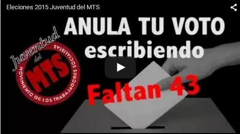 Juventud del MTS por la anulación del voto