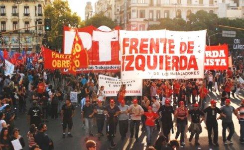Les primaires du Front de l'Extrême Gauche et des Travailleurs (FIT)