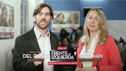 La lista del Frente de Izquierda encabezada por Nicolás del Caño difunde sus primeros spots de campaña
