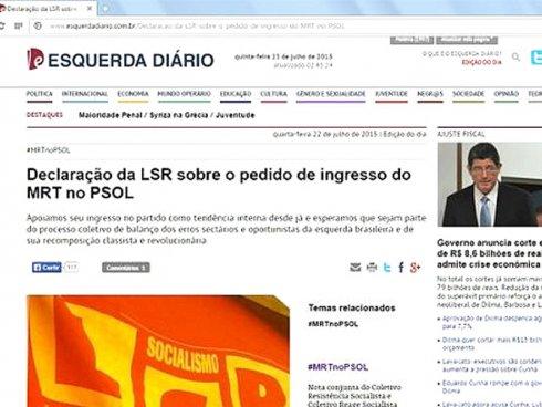 Mais de 11000 visitas, apoio de intelectuais, militantes e tendências políticas para que o MRT entre no PSOL