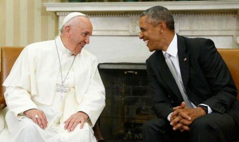 Francisco mostra ao mundo sua aliança com Obama