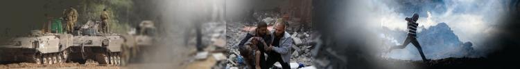Ataque del estado terrorista de Israel contra el pueblo palestino